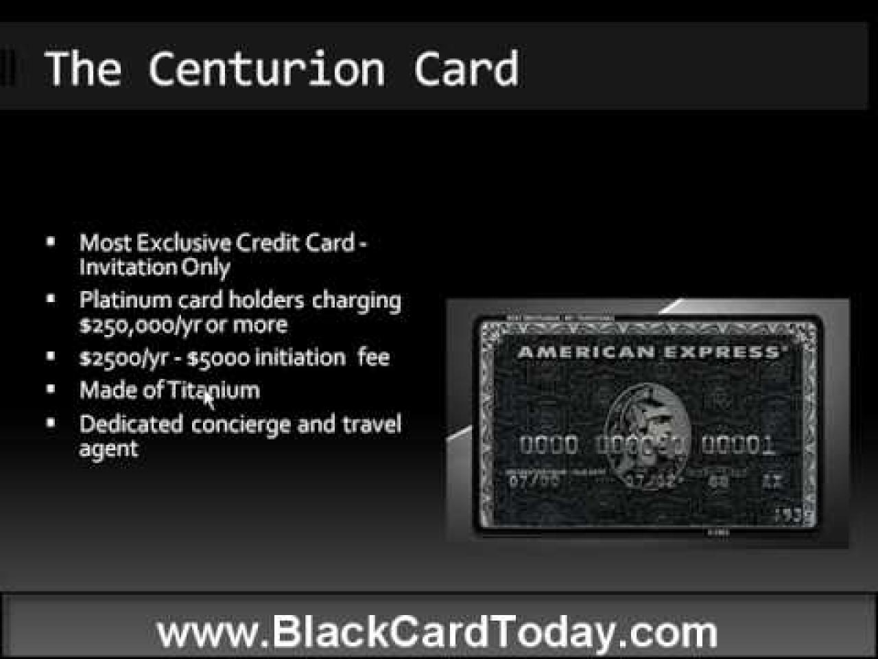 Centurion Card - American Express Black | Luxury Living | Pinterest
