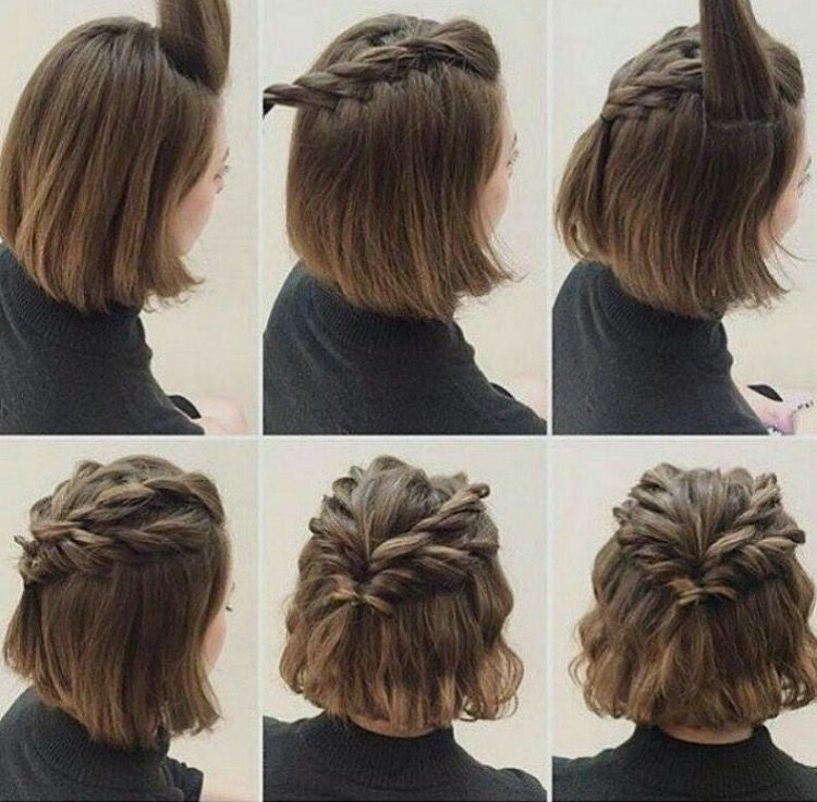 10 Belles Coiffures Faciles Sur Cheveux Courts Cute Hairstyles For Short Hair Hair Styles Short Hair Styles