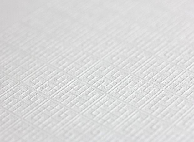Blind embossed paper for Sacca by Imagist.