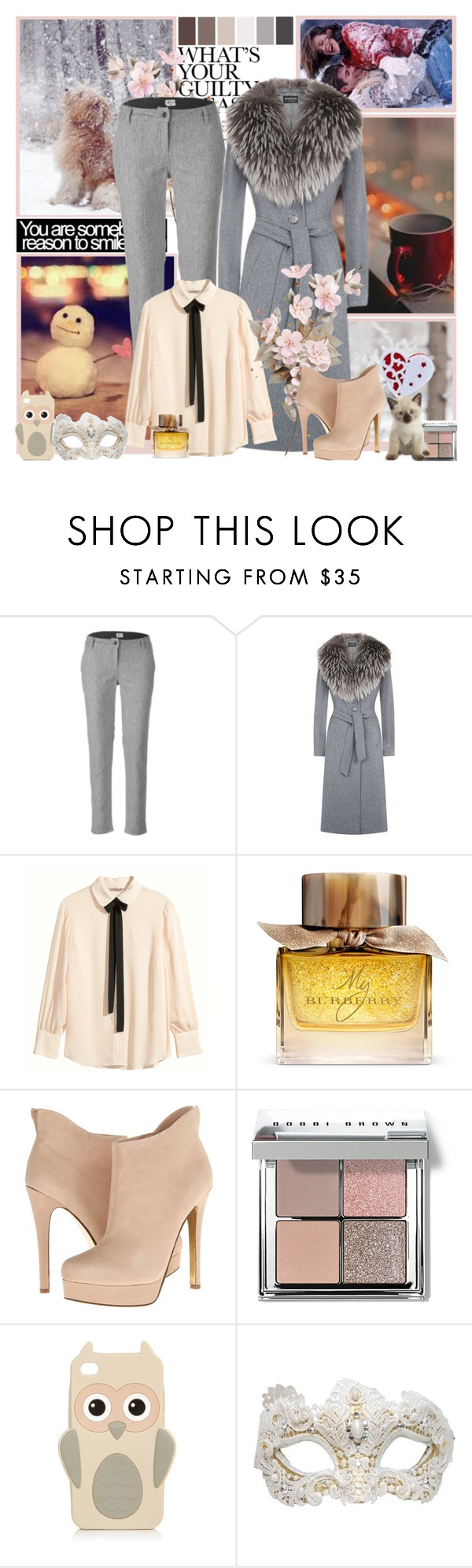 """Winter"" by milica-b3 ❤ liked on Polyvore featuring мода, Bridge & Burn, Harrods, H&M, Burberry, Chinese Laundry, Seed Design, Bobbi Brown Cosmetics и Swarovski"