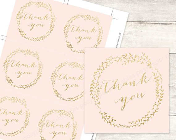 pink gold bridal shower favor tags by posypaperprintables on Etsy, $5.00