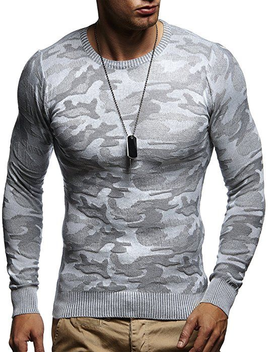 LEIF NELSON Herren Pullover Strickpullover Hoodie Sweatshirt