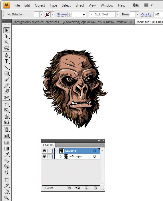 How To Open Vector Ai Or Eps Files In Photoshop Feb 13 2012 By Doink Photoshop Outline Art Eps