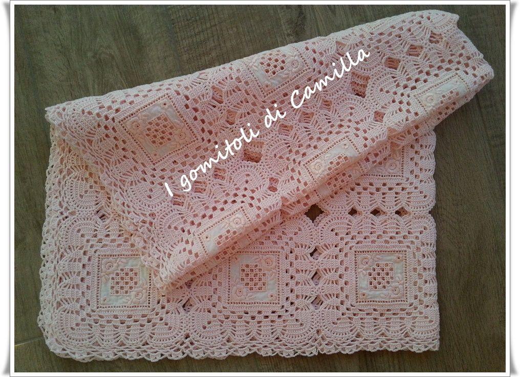 Crochet piastrella con margherita tutorial