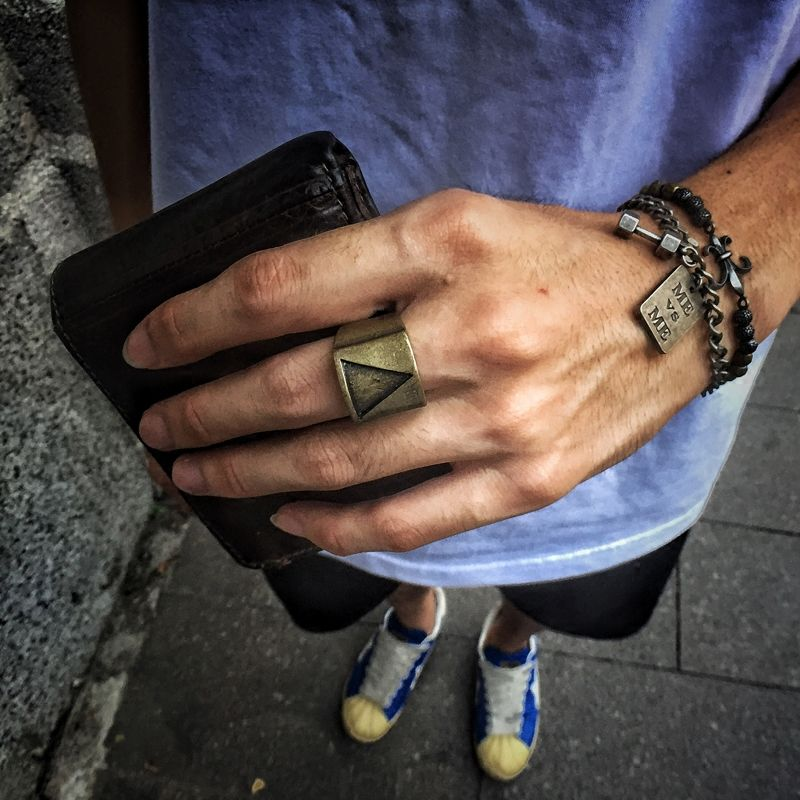Mcllroy Fashion Triangle Geometric Men \'s Ring Woman Rings ...