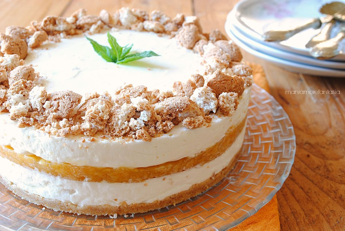 Cheesecake Pesche E Amaretti Senza Cottura Cucina Ricette