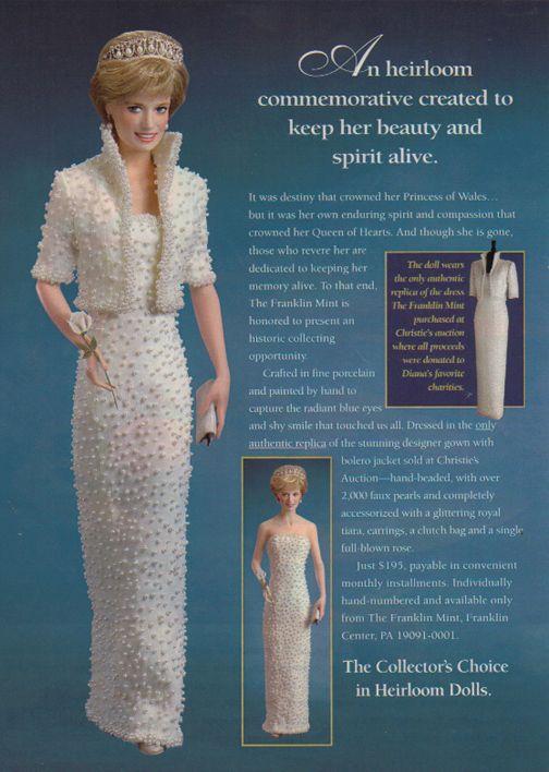 Princess Diana 1997 Doll Ad - for The Franklin Mint | Princess Diana ...