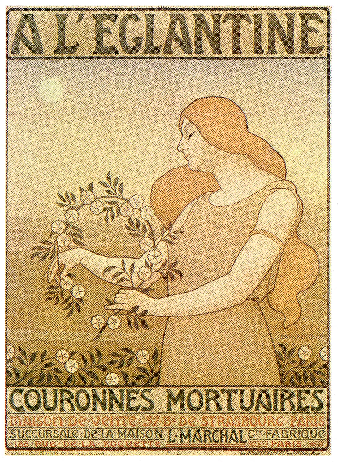 Art-Poster-Advertisement-A-LEglantine-Couronnes-Mortuaires.jpg (1092×1492)