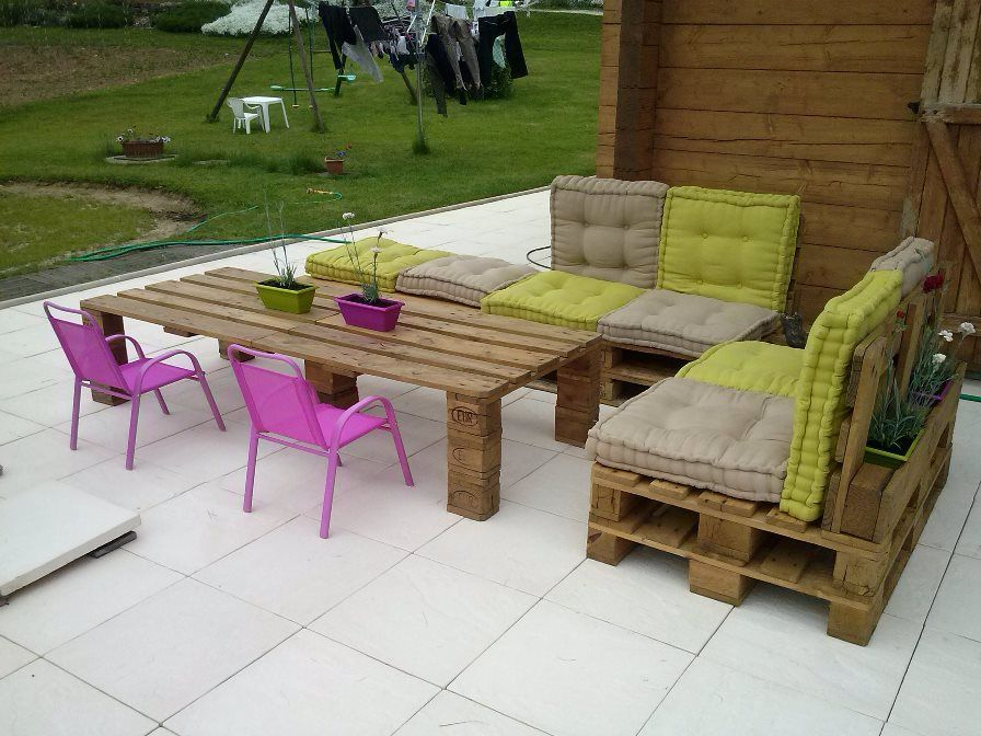 Salon de jardin en palettes | Pallets, Pallet projects and Gardens