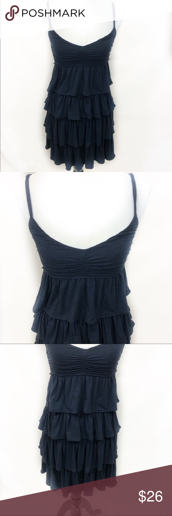 Blue ruffle dress from J Crew in size XS Blue ruffle