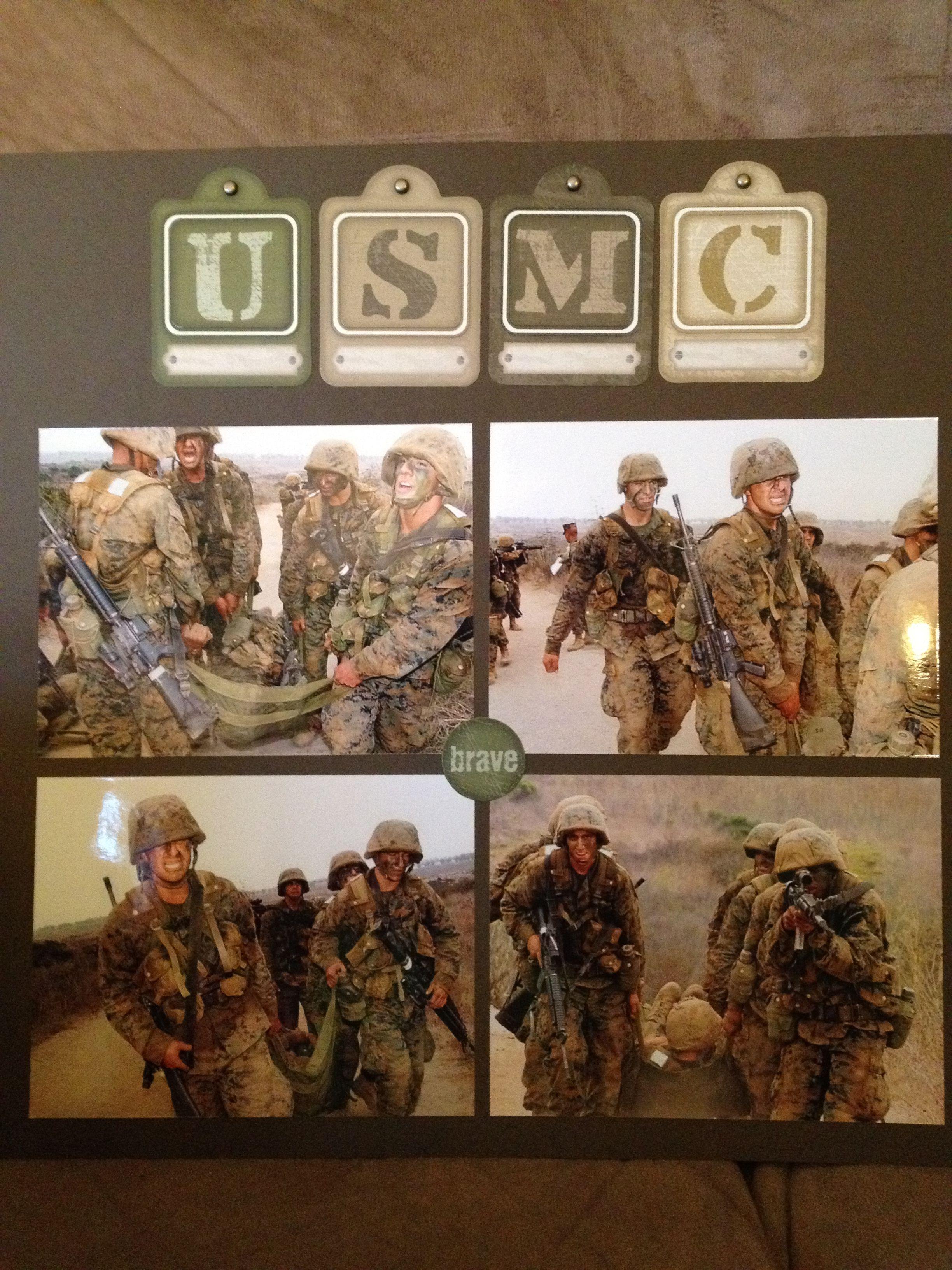 Scrapbook ideas military - Scrapbook Ideas For Marines Google Search
