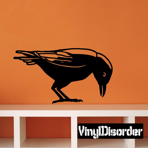 Crow Raven Wall Decal - Vinyl Decal - Car Decal - 015 ...