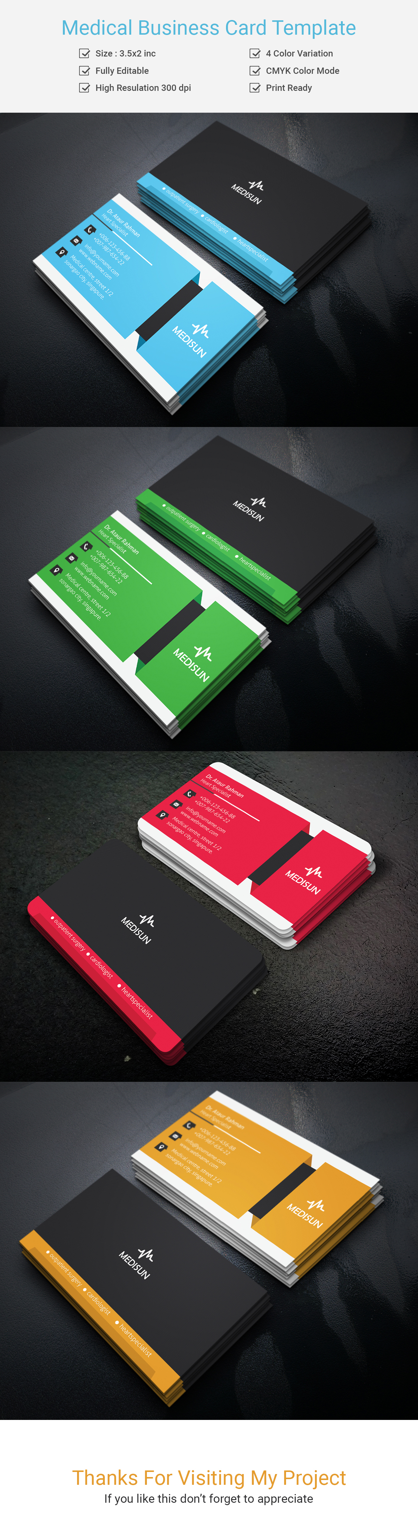 Medical Business Card Template On Behance  BusNassss