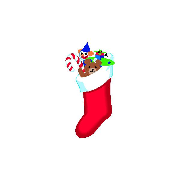 Transparent Christmas Stockings Clip Art ❤ liked on Polyvore