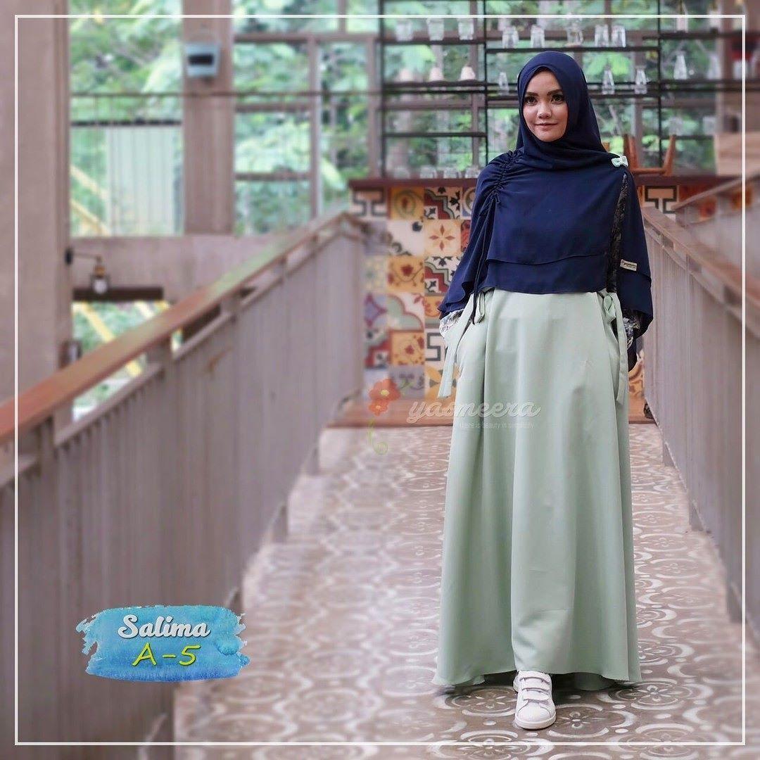 Gamis Yasmeera Salima Series A12 - baju gamis wanita busana muslim