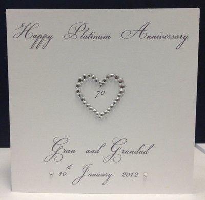 Personalised 70th Platinum 60th Diamond 50th Gold Wedding Anniversary Card On Ebay Wedding Anniversary Cards Gold Wedding Anniversary Anniversary Cards
