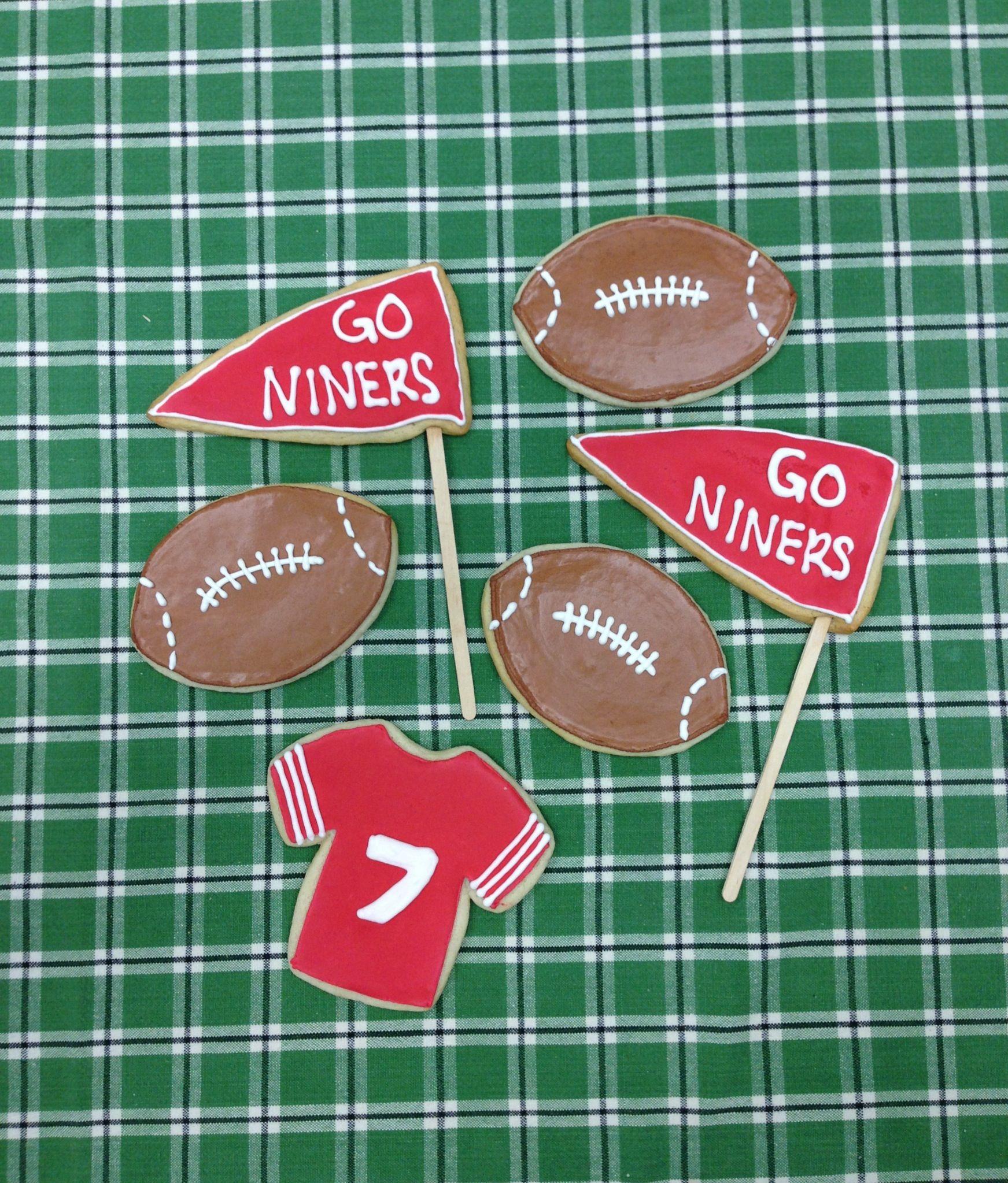 49er Nation SF Niners San Francisco 49ERS Niners for Life! San Francisco 49ers Super Bowl Sugar Cookies