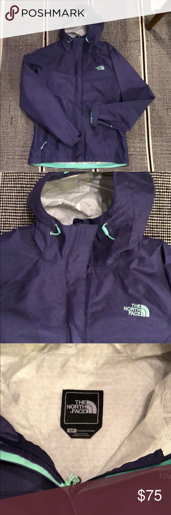 North Face Rain Jacket Purple And Mint Rain Jacket From The North Face Only Worn Once Like New Condition Perfec North Face Rain Jacket The North Face Jackets [ 1740 x 580 Pixel ]