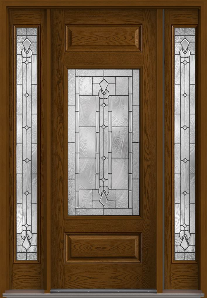 Lucerna 8 2 3 Lite 1 Panel Top And Bottom Oak Fiberglass Exterior Door 2 Sides Fiberglass Exterior Doors