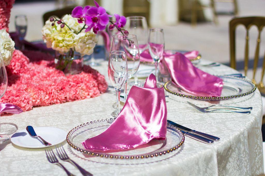Pink and white decor can brighten your big day at #DreamsSandsCancun #Mexico #Destinationwedding