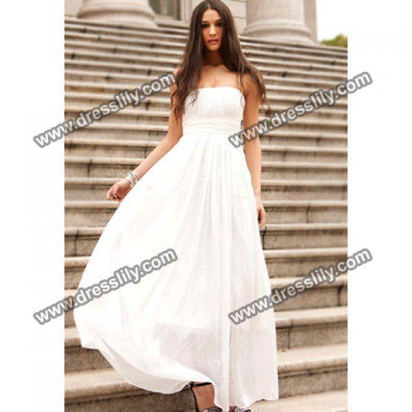 Charming Strapless Party Women's Chiffon Dresses