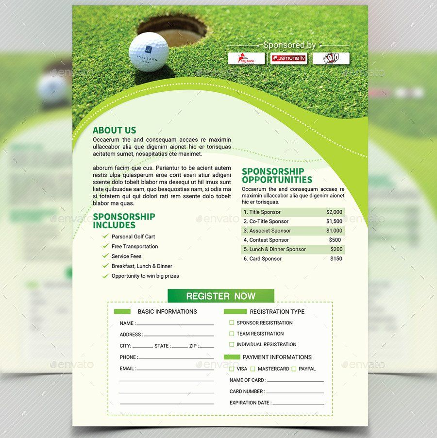 Free Golf Tournament Flyer Template Unique Golf Tournament Flyer Template V4 By Aam360 Flyer Template Invitation Template Flyer Golf outing registration form template