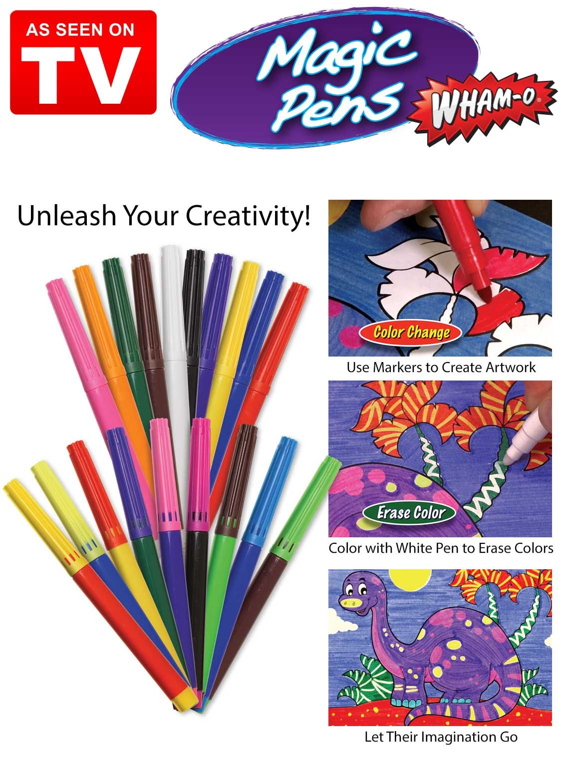 Magic Pens As Seen On Tv Coloring Markers See On Tv Pen