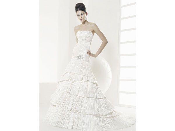 Vestido de Rosa Clara de Tafetán / vestido de novia / boda ...