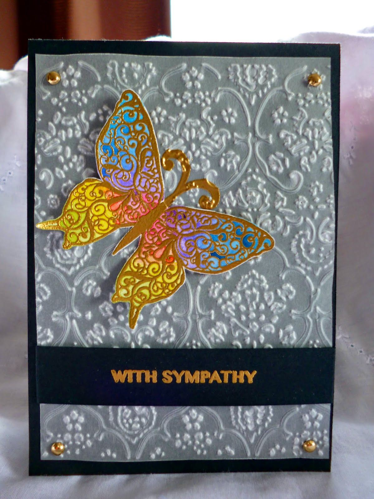 Sympathy Butterfly card - blog post