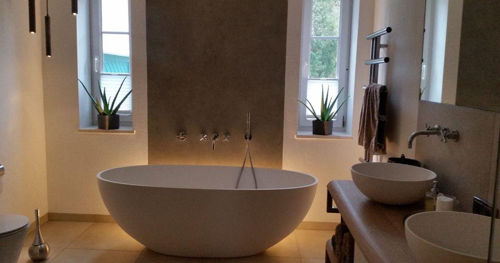 Sehr Schone Beleuchtung Im Badezimmer Mit Unserer Mineralguss
