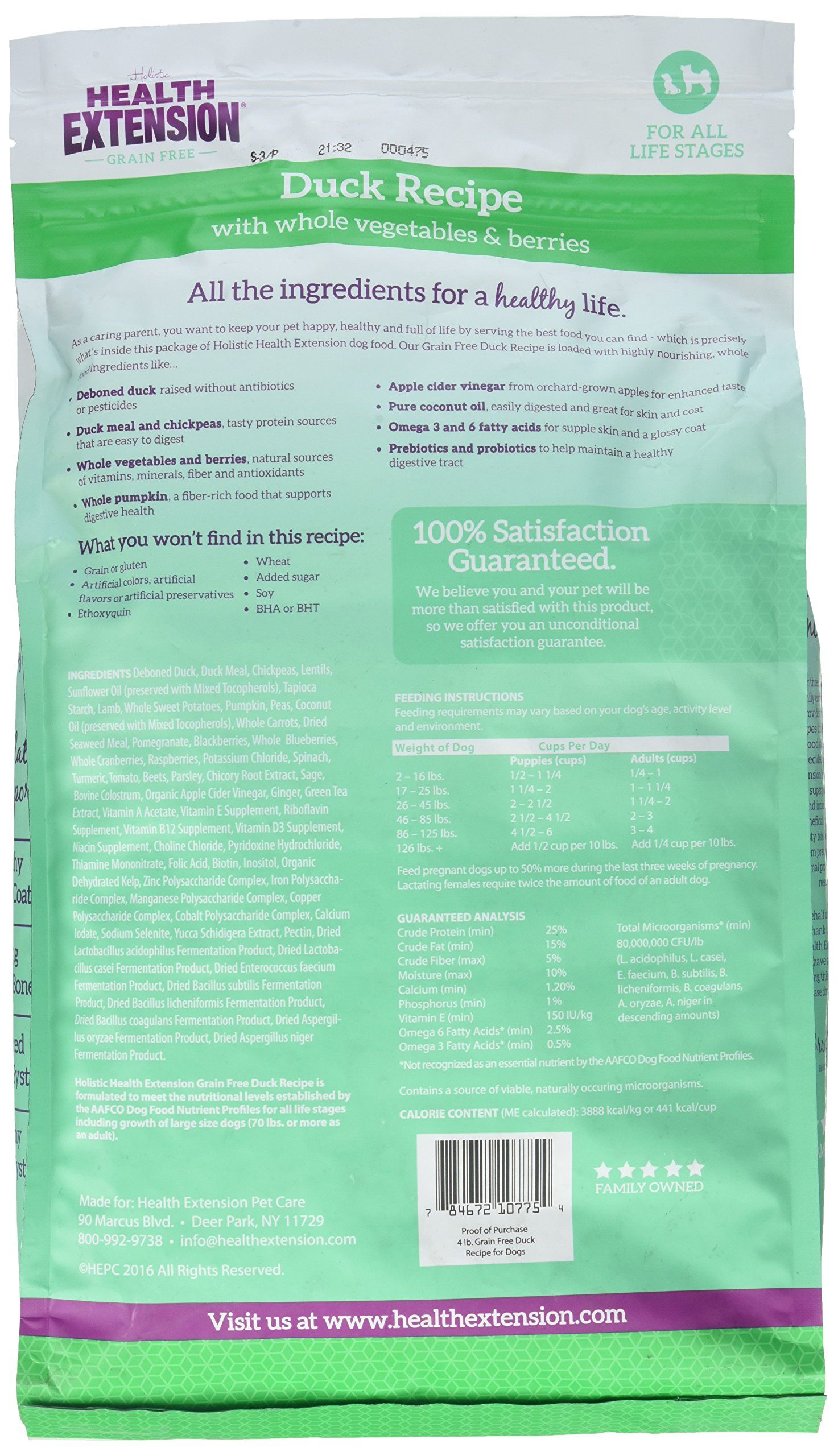 Health Extension 784672107754 4 lb Duck and Chickpea Pet