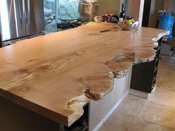 Arbeitsplatte kuche altes holz for Kuchenplaner mit kochinsel