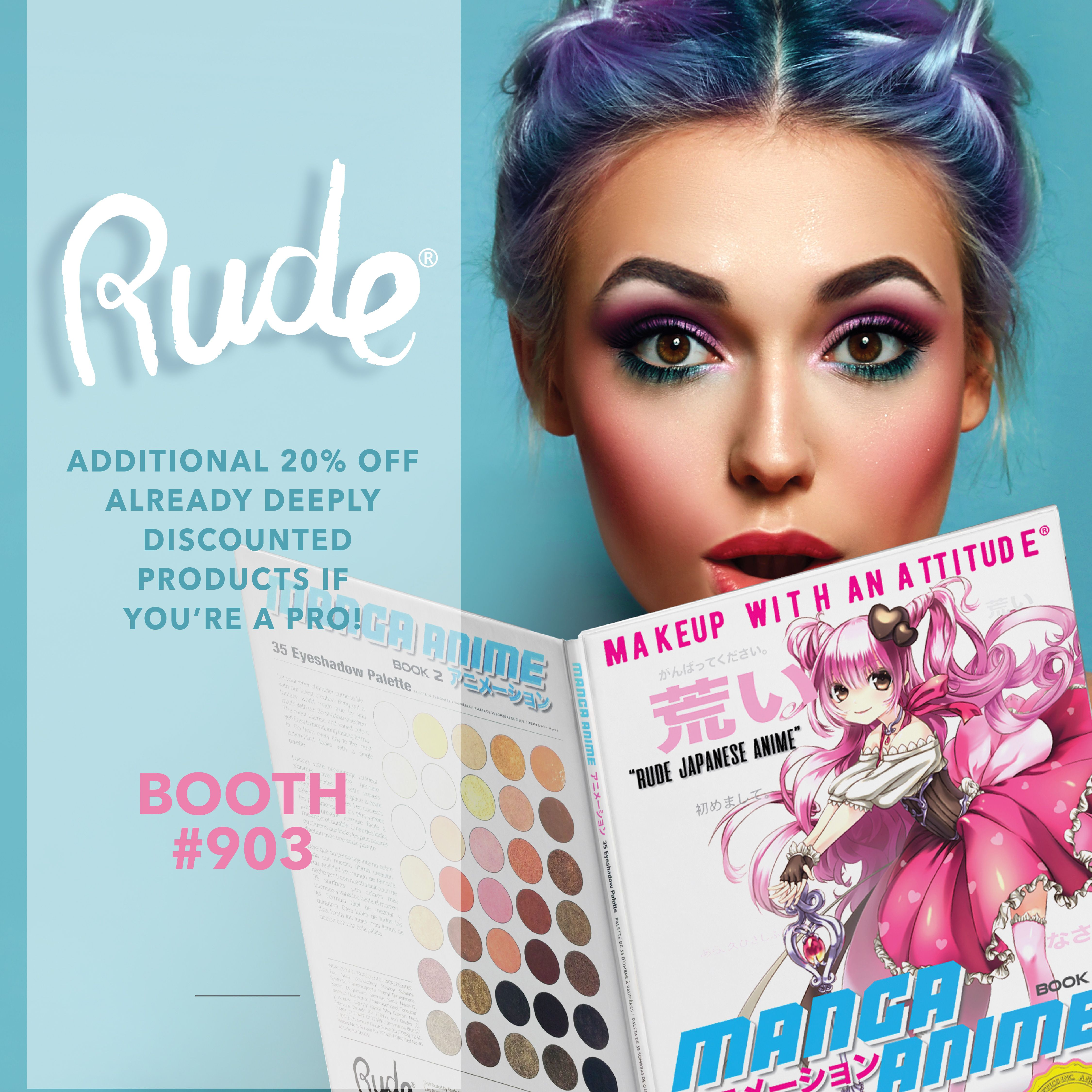Meet us at The Makeup Show LA TODAY AND TOMORROW