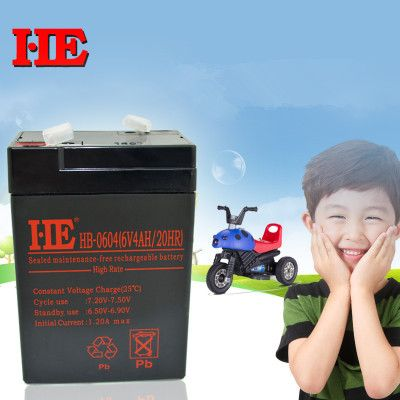 High Quality 6v 4ah Small Storage Battery Mf Backup Battery Toy Car