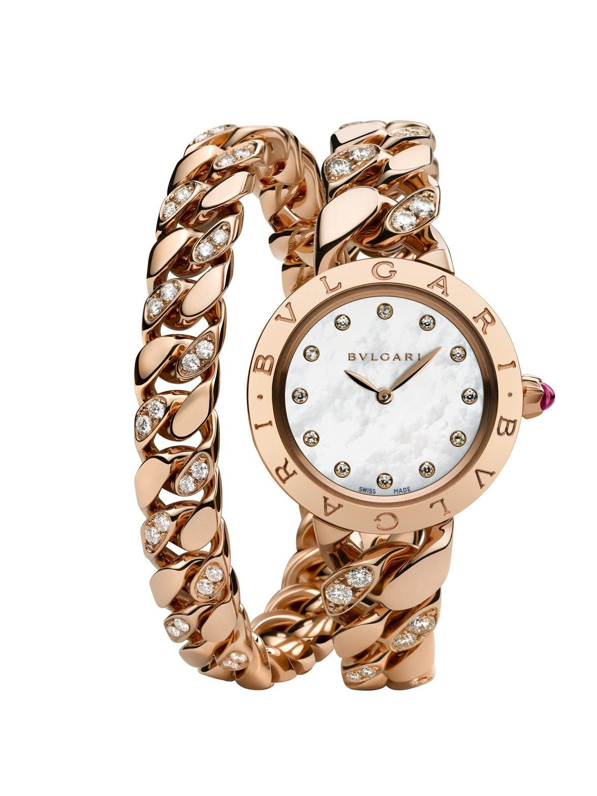 Bvlgari bvlgari pink gold catene watch now at london jewelers
