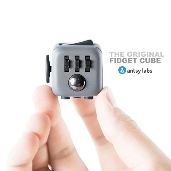 The Original 6 sided Fidget Cube by Antsy Labs lets you fidget at school, home or work.