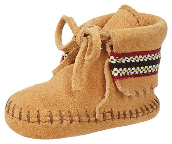 Unisex Baby Braid Bootie Krabbelschuhe, Braun (Brown), 18 EU Minnetonka