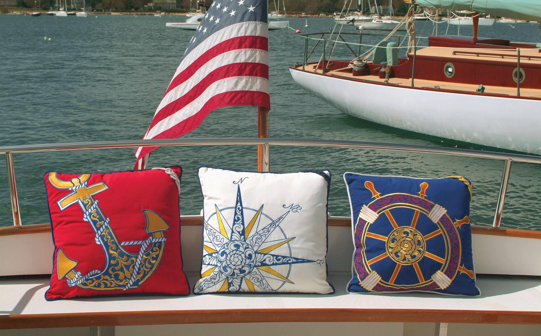 Great Nautical Themed Pillows, Great For The Outdoors