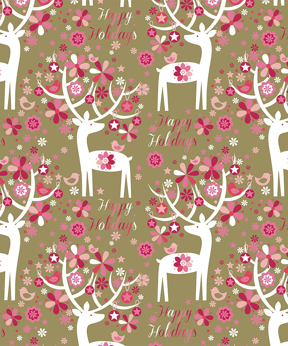 Adorned Antler Kraft Jumbo Wrapping Paper Roll - Set of Three