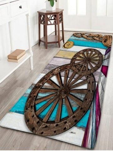RoseGal.com - RoseGal Mediterranean Wood Wheel Flannel Bath Rug - AdoreWe.com