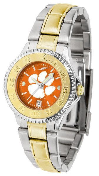 Clemson Tigers Men Or Ladies Competitor Two-Tone Watch With Anochrome Dial