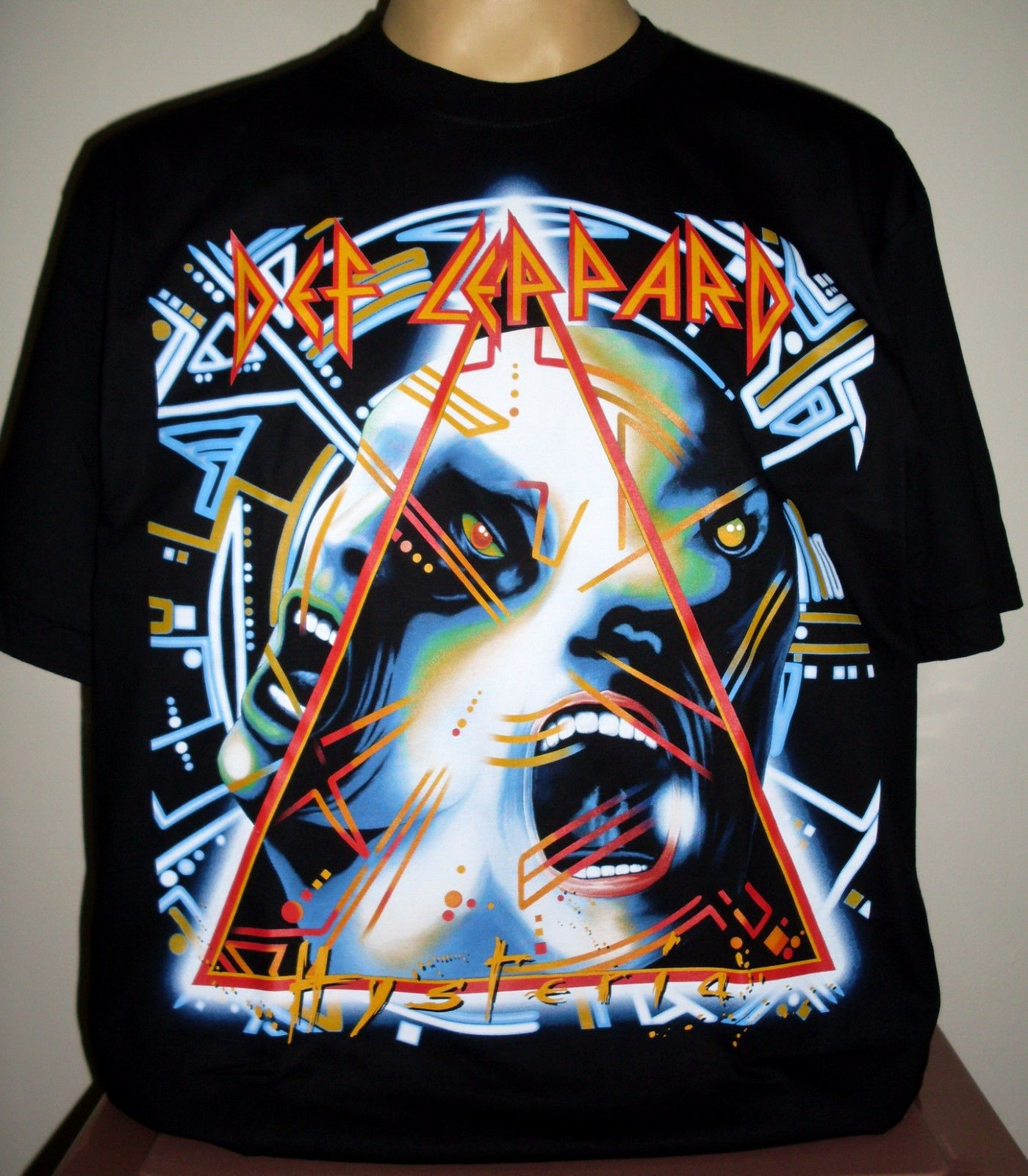Black dog t shirt ebay - Details About Def Leppard Hysteria Top Quality T Shirt Size L 2xl 3xl Xxl Xxxl On Sale New