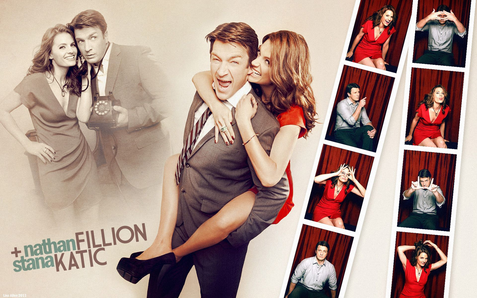 Nathan Fillion and Stana Katic Castle TV Series