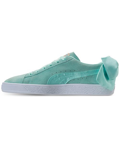 Puma Suede Bow Island Paradise Aqua Casual Women's Shoes