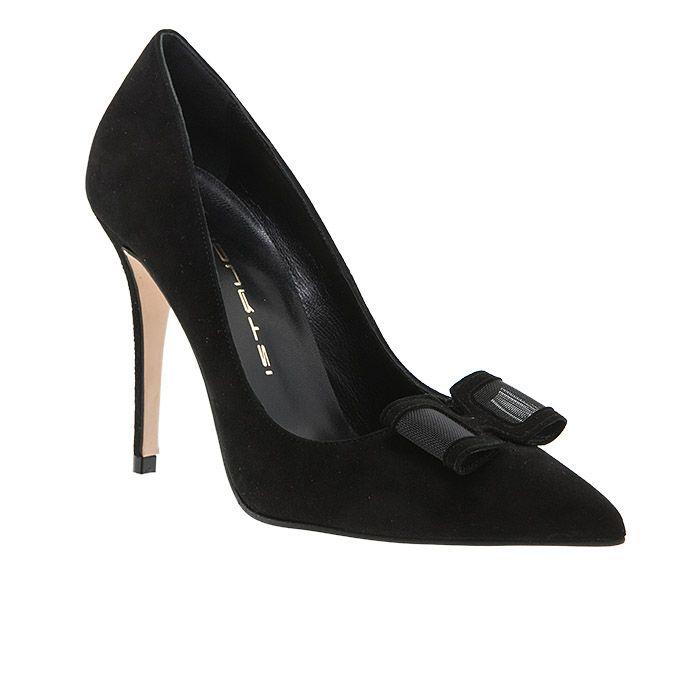 853K00P-NAVY SUEDE www.mourtzi.com #Mourtzi #heels #pumps