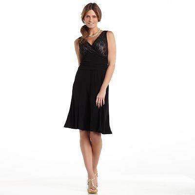 714a1cc53b1 Chaps Lace Ruched Mixed-Media Dress - Women s Plus