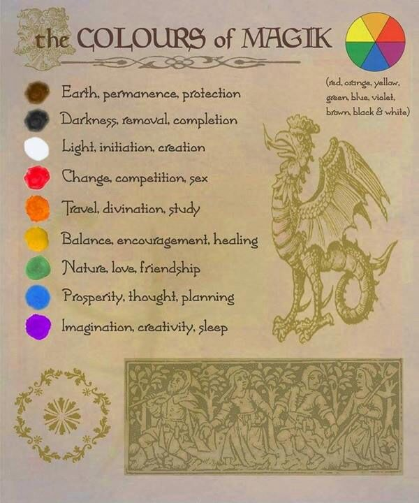 Pagan Colour Meanings. The Colours of Magic. Magik | Colour ...