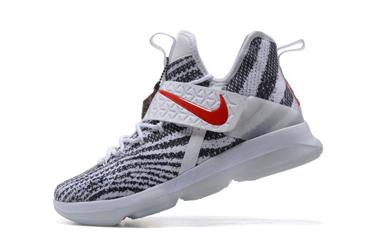 Latest LBJ Sneakers Cheap Nike Lebron 14 XIV Zebra Striped University Red