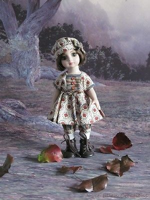 Patsy-Anne-Estelle-Tonner-10-OOAK-Autumn-Munchkin-dress-handmade-by-JEC. Sold for $32.00 on 11/16/14.