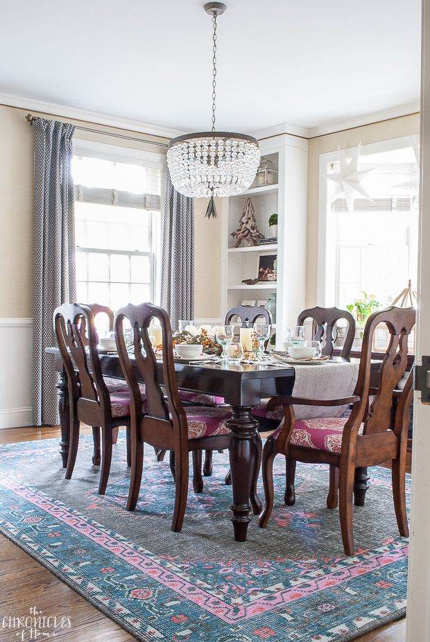 Chic Dining Room Design With Pops Of Pink The Chronicles Of Home
